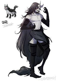 Pokemon Gijinka 261. Poochyena 262. Mightyena