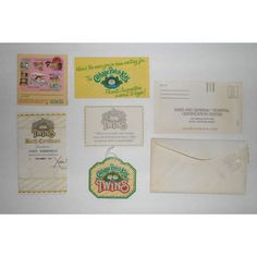 vintage cabbage patch 1983 kid with official adoption certificate cabbage patch dolls pinterest cabbage patch