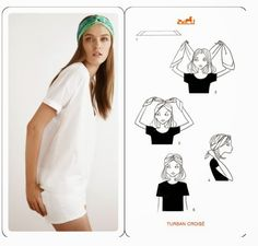 Alcuni modi per indossare il foulard. Some methods to wear your head scarf.