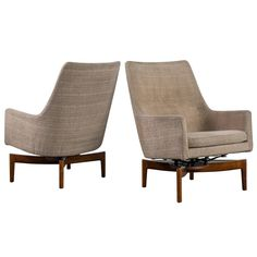 Pair of Jens Risom Lounge Chairs | From a unique collection of antique and modern lounge chairs at https://www.1stdibs.com/furniture/seating/lounge-chairs/