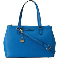 DKNY Large Work Shopper ($241) ❤ liked on Polyvore featuring bags, handbags, blue, dkny, shopping bag, zipper purse, shopper tote handbags and shopper handbags