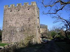 """Branthwaite Hall is pele tower in Cumbria, England, considered by historian Anthony Emery to be """"one of the best-preserved early houses in Cumbria"""