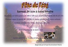 Fête de l'été à Saint-Ythaire le 24 juin 2017 : http://clun.yt/2r6S1mw