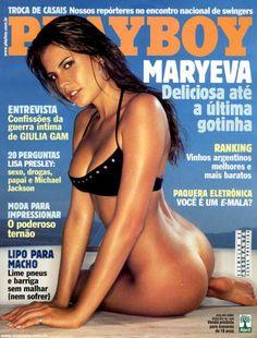 Maryeva Oliveira posando en Playboy Julho 2003
