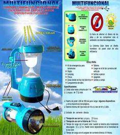 """LAMPARA, LINTERNA MULTIFUNCIONAL RECARGABLE SOLAR, DINAMO, USB Recarga ALGUNOs DISPOSITIVOS DIGITALES - VALOR $86.990- """"ENVIO GRATIS"""" Tiene 3 sistemas de carga distintas 1. Recargable con energia electrica AC 110 Volt 2. Panel solar 3-DINAMO. - Su bateria puede durar entre 10 A 12 horas con una sola carga - VALOR $ 86.990 pesos DESPACHOS A TODA COLOMBIA """"ENVIO GRATIS"""" - TIEMPO DE ENTREGA DE 24 A 48 HORAS. - PAGOS DEBITO BANCARIO """"PSE"""" - TARJETAS DE CREDITO O EN EFECTIVO POR VIA BALOTO, SIN…"""