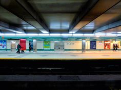 Bloor subway station platform. Photo by Duane Schermerhorn.