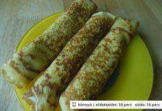 Palacsinta kukoricalisztből Crepe Cake, Hungarian Recipes, Hungarian Food, Mille Crepe, Crepes, Paleo, Cookie Recipes, Pancakes, Food And Drink