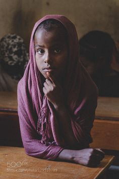 The girl with the violet scarf. #PatrickBorgenMD