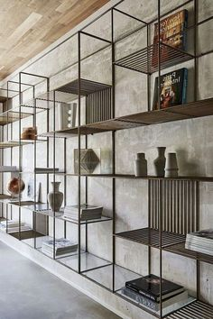 Awesome DIY Bookshelves Storage Style Ideas – Page 86 of 97 - Diy furniture design Diy Industrial Interior, Industrial Kitchen Design, Industrial Interiors, Diy Interior, Interior Design Tips, Home Design, Diy Design, Design Projects, Industrial Style Furniture