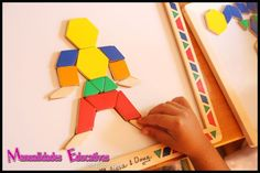 Bloques Geométricos con imán - Creciendo con Montessori