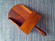 Vintage Wood Scoop Wall Pocket Sconce Kitchen by ZiLvintage, $8.99