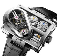 Harry Winston's watches are well-crafted, and from exceptional materials, to boot. But a lot of times, their creations are less about, you know, being a watch, and more about being a strange piece of (very expensive) art. Just check out the model above.