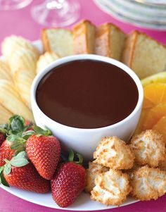 Ina Garten's chocolate orange fondue.   - HouseBeautiful.com