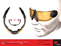 Flex G Goggles are ski goggles designed to be unbreakable. The goggles feature great shape and flexibility to prevent them from breaking (Ricardo Baiao, 2012)