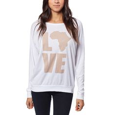 Love Africa Long Sleeve // White & Blush