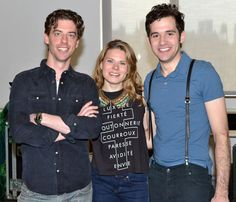 Say cheese! Christian Borle drops by the Brooks Atkinson Theatre: http://www.theatermania.com/broadway/news/03-2012/photo-flash-christian-borle-roger-rees-and-company_52194.html  #Smash