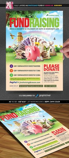 Charity Fundraising Flyer Templates Flyer template, Fundraising - fundraising flyer