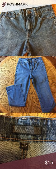 Nine West Blue Jeans 12/30 Nine West Blue Jeans size 12/30 Bootcut no signs of wear 79% cotton 20% polyester 1% spandex Make me an offer! You also might want to check out some of my other Jeans as a give a 10 percent discount on bundles of  2 or more items! Nine West Jeans Boot Cut