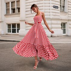 Striped Maxi Dresses, Women's Dresses, Casual Dresses, Short Dresses, Fashion Dresses, Summer Dresses, Hijab Casual, Dresses Online, Long Skirts
