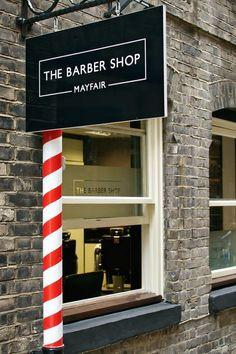Village in the City: Shepherd Market Shepherd Market: a London village in the city - The Barber Shop Barber Shop Interior, Barber Shop Decor, Beauty Salon Interior, Salon Interior Design, Salon Design, Hailie Barber, London Village, Best Barber Shop, Barber Logo
