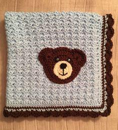 Teddy Bear Stroller/Car Seat Baby Blanket
