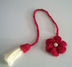 Marcador de Páginas Flor - Crochê