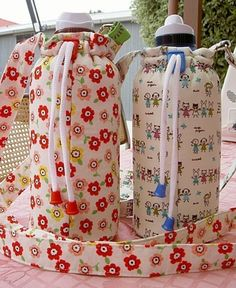 How to Make a Water Bottle Carrier PDF Digital by heartofmary
