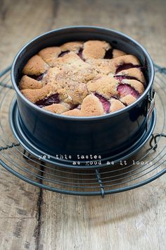 Plum Crumble Cake by decor8, via Flickr : http://decor8blog.com/2013/02/07/delicious-bites-plum-crumble-cake/#