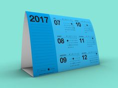 Free Printable Tent Calendar 2017