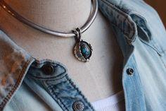 Horizon Blue ネックチョーカー チェーンとは違ったおもむきになります 単体使いもできます。  #Horizonblue #TAKA #ターコイズ #bisbee #ビズビー #turquoisejewelry #ターコイズジュエリー #ジュエリー#silverjewelry  #silver #アクセサリー #ファッション #アメカジ  #ペンダント #pendant #ネックレス  #ハンドメイド