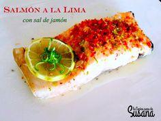 Salmón a la lima con sal de jamón http://blgs.co/kH9Ub_