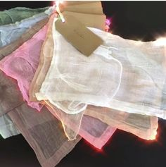 Colours of hand dyed Muslins for House Gowns by @serasestra