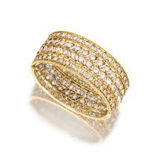 18 Karat Two-Color Gold and Diamond Bangle-Bracelet, Buccellati, Italy, Circa 1970 - Sotheby's est 15,000-20,000 USD