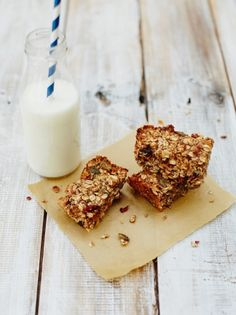 Enjoy these granola bars from Jamie Oliver, a perfect mix of oaty, nutty, sweetness packed into these easy to make and delicious snack sized treats.