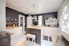 Rintamamiestalo Modern Farmhouse, Open Kitchens, Traditional, Interior Design, Cottages, Table, Inspiration, Furniture, Home Decor