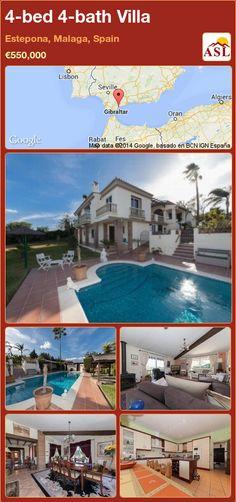4-bed 4-bath Villa in Estepona, Malaga, Spain ►€550,000 #PropertyForSaleInSpain