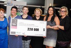 Le Tournoi des Filles Open  La Fondation du CHU de Québec reçoit 220 000 $ pour la lutte contre les cancers féminins