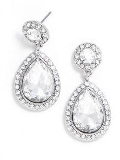 Double Bezel Tear Drops Earring @Reis-Nichols Jewelers - Engagement Rings, Wedding Bands, Fine Jewelry & Swiss Watches