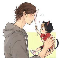 Haikyuu!! • Asahi and Nishinoya how cute cx