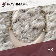 Necklace  Super cute bone replica choker necklace with clasp. Pre loved and gently used. Forever 21 Jewelry Necklaces