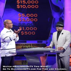 "The questions are wild all week long with host Cedric ""The Entertainer""! Go to www.millionairetv.com for time and channel to watch #MillionaireTV!"