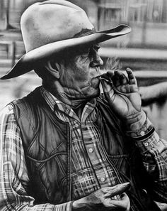 Cowboy Art Print by Jerry Winick. All prints are professionally printed, packaged, and shipped within 3 - 4 business days. Pencil Art, Pencil Drawings, Art Drawings, Realistic Drawings, Cowboy Draw, Charcoal Art, Thing 1, All Art, Drawing Sketches