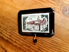 1972 French Chateau Postage Pin by VivaLaPoste on Etsy