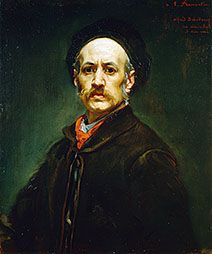 Self-portrait of/by French painter Edmé-Alexis-Alfred Dehodencq (1822-1882). 1870, oil on canvas. In the collection of The High Museum, Atlanta, GA.