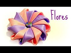 DIY: Flor de 12 pétalos. - YouTube