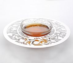 This gorgeous laser-cut honey dish will look fabulous on your Rosh Hashanah table! Enter the giveaway now to win! Shana Tova u'Metuka!