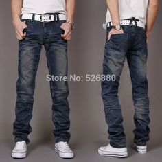 The new 2015  straight  han edition jeans  men's cultivate one's morality leisure jeans  boutique jeans  bigger sizes 27-38