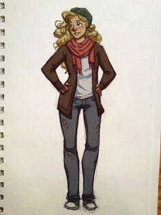 Annabeth Percy Jackson fan art | http://shanlightyear.tumblr.com