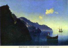 Ivan Aivazovsky. The Coast at Amalfi. Olga's Gallery.