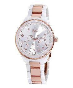 Silver & Rose Gold Sparkle Sky Watch